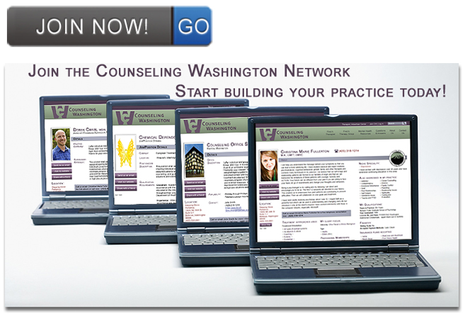 Image of computers with Counseling Washington profiles displayed