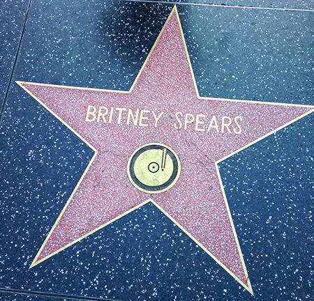Hollywood sidewalk star for Britney Spears